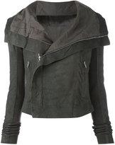 Rick Owens classic biker jacket - women - Lamb Skin - 40