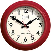 Newgate Small Electric Clock, Red