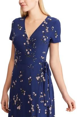 Chaps Petite Floral Faux-Wrap Dress