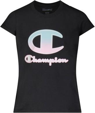 "Champion Girls 7-16 Ombre ""C"" Script Tee"
