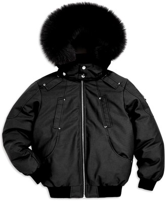 Moose Knuckles Little Boy's & Boy's Fox Trim Bomber Jacket