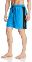 Calvin Klein Men's Solid with Piping Volley Swim Trunk