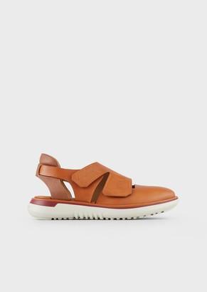 Giorgio Armani Deerskin Leather Slip-Ons