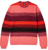 Paul Smith Striped Textured-Cotton Sweater