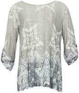 Izabel London *Izabel London Grey Star Print Smock Top