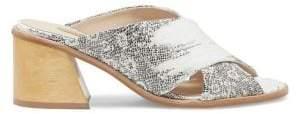 Louise et Cie Harding Cross Strap Leather Sandals