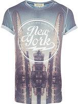 River Island MensWhite New York printed t-shirt