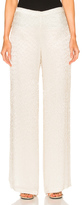 Oscar de la Renta Embellished Pant in White.