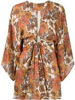 Dodo Bar Or cut-out floral-print mini dress