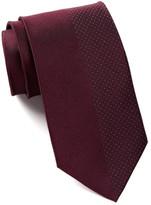 Calvin Klein Silk Pindot Panel Tie