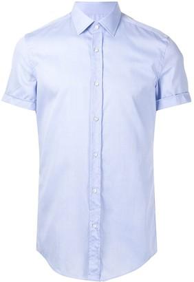 HUGO BOSS Short Sleeve Button-Front Shirt