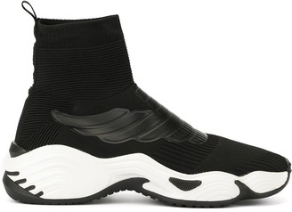 Emporio Armani High-Top Sock-Style Sneakers