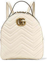Gucci Gg Marmont Quilted Leather Backpack - Ivory
