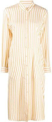 Salvatore Ferragamo Striped Shirt Dress
