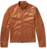 Connolly - Slim-fit Leather Racing Jacket - Tan