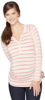 Motherhood Button Detail Maternity T Shirt