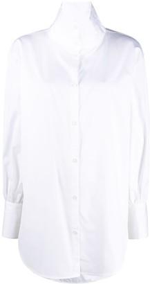Totême Oversized High Neck Buttoned Shirt