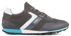 HUGO BOSS Hybrid Sneakers With Bamboo Charcoal Lining And Lightweight Sole - Dark Grey