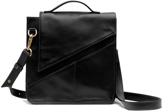 Holly & Tanager Wanderer Leather Crossbody Purse In Black
