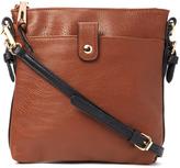 Kathy Ireland Brown Contrast-Strap Crossbody Bag
