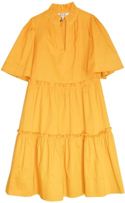 Sea Clara Tiered Dress in Maize