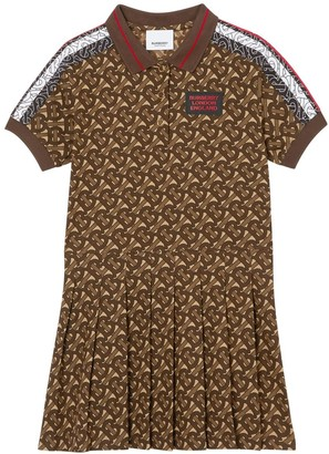 Burberry Logo Printed Cotton Pique Dress