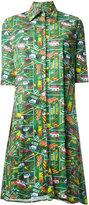 Ultràchic - Transport print shirt dress - women - Cotton/Spandex/Elastane - 40