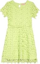 BCBGMAXAZRIA Girls Girl Scallop Lace Dress