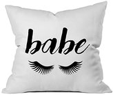 "Oh! Oh, Susannah Babe Eyelashes 18x18"" Throw Pillow Cover"