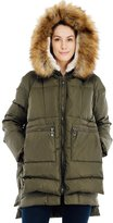 Valuker Women's Down Coat With Fur Hood 90D Parka Puffer Jacket 25-XS