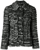 Simone Rocha buttoned tweed jacket - women - Cotton/Nylon/Acetate/Wool - 8