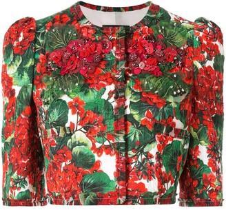 Dolce & Gabbana Portofino print cropped jacket