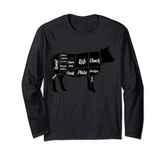 Beef Butcher Cow Cuts Diagram Long Sleeve T-Shirt