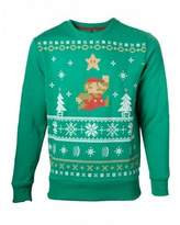 Nintendo Super Mario Bros. Men's Running Xmas Mario Christmas Jumper, XL