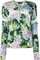 Dolce & Gabbana hydrangea print cardigan - women - Silk/Cotton/Cashmere - 42