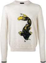 Lanvin intarsia Koi fish jumper - men - Wool - S