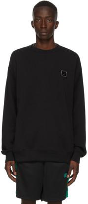 Acne Studios Black Oversized Logo Plaque Sweatshirt
