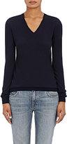 Barneys New York Women's Cashmere V-Neck Sweater-NAVY
