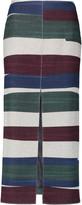 Carven Striped wool-blend midi skirt