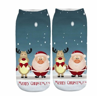 Kobay Women 2020 Sale Clearance Unisex Christmas Cute Cartoon Animal Thickness Stockings Sleeping Socks Soft Cozy Cotton Knitted Sock for Women Girls Xmas Gift Indoor (X)