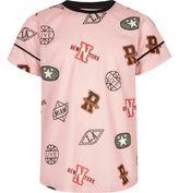 River Island Girls pink sports print mesh T-shirt