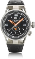 Locman Montecristo Stainless Steel & Titanium Dual Men's Watch w/Leather Strap