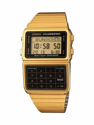 Casio DATABANK Japanese Quartz Watch with Stainless Steel Strap