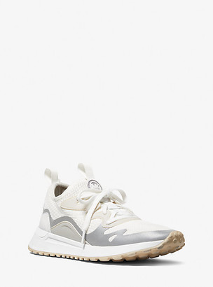 Michael Kors Nolan Mesh and Rubberized Leather Trainer - Optic White