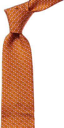 Salvatore Ferragamo Orange & Pink Fish Silk Tie
