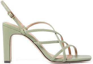 Forever New Bronte Strappy Heels - Sage Green - 36