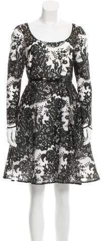 Marchesa Embroidered Cocktail Dress w/ Tags