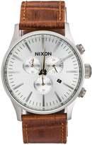 Nixon Sentry Chronograph Watch Saddle Gator