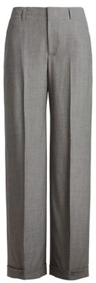 Ralph Lauren Flannel Wide-Leg Pant
