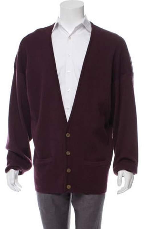 bba41afd6 Rib Knit Wool Cardigan purple Rib Knit Wool Cardigan